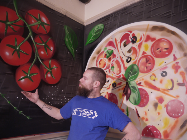 Frank Styles Mamas Italian Kitchen Tomotoes Pizza Street Art Graffiti